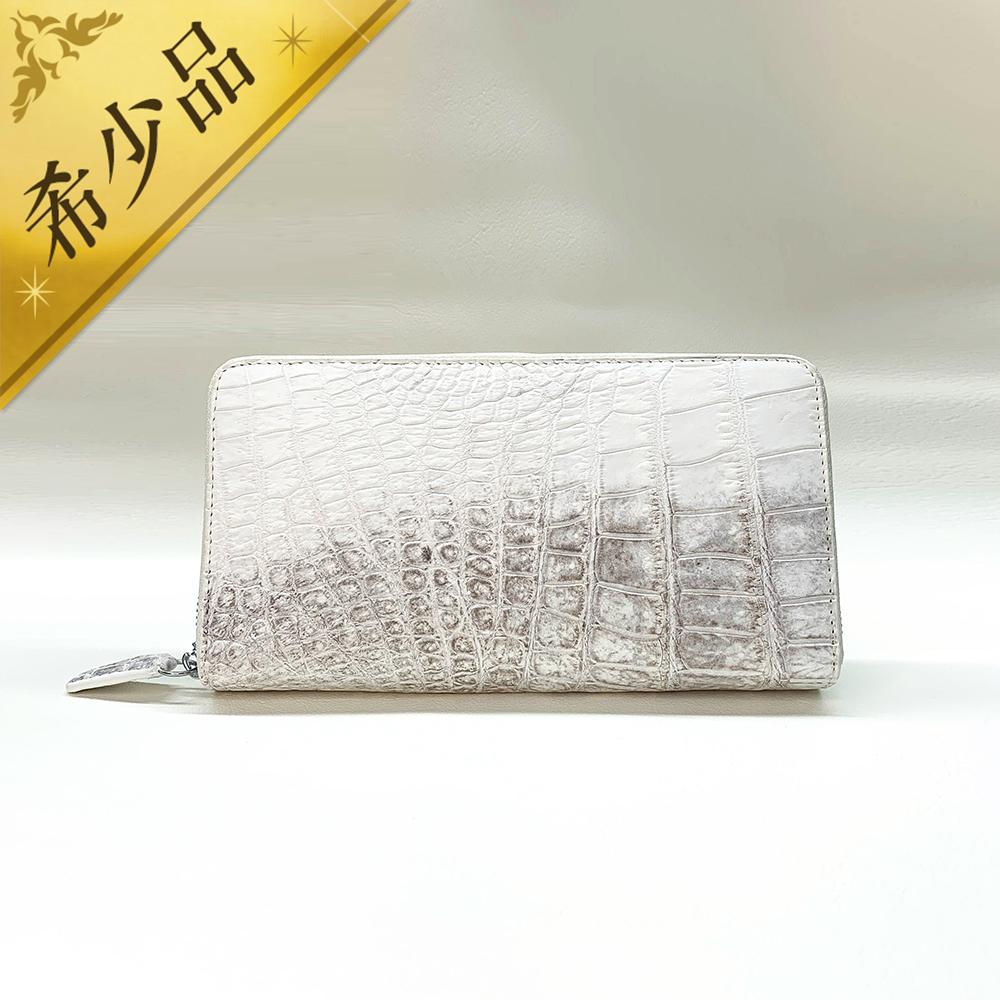 ホワイトレザー長財布
