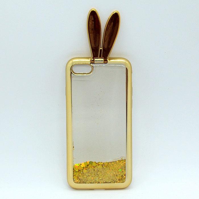 iPhone7 キラキララビット ゴールド 可愛い おしゃれ 海外 耐衝撃 おもしろ スマホケース ケース カバー アイフォン