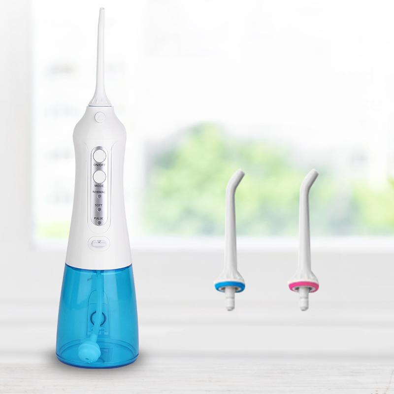 デンタルウォッシャー デンタルフロス 歯間ブラシ ジェット水流式口腔洗浄機 大容量300ml 防水 IPX7 電動 歯間 ケア 用品 オーラルケア ホワイトニング 充電式 携帯可